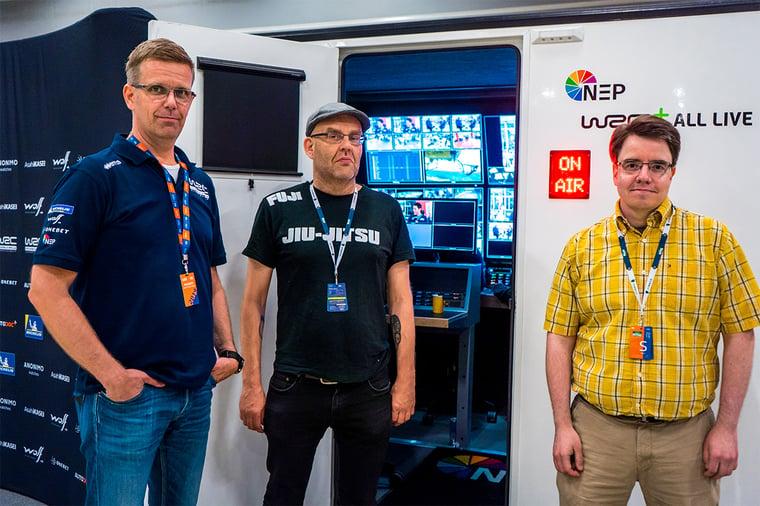 NEP Finlandin toimitusjohtaja Marko Viitanen ja Cloud1:n integraatioarkkitehdit Petri Mälkki ja Jan Tuomi