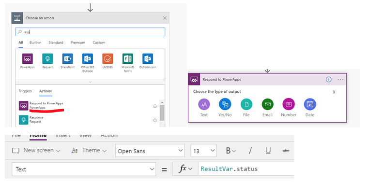 Respond to PowerApps
