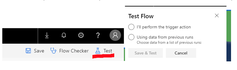 PowerApps Test Flow