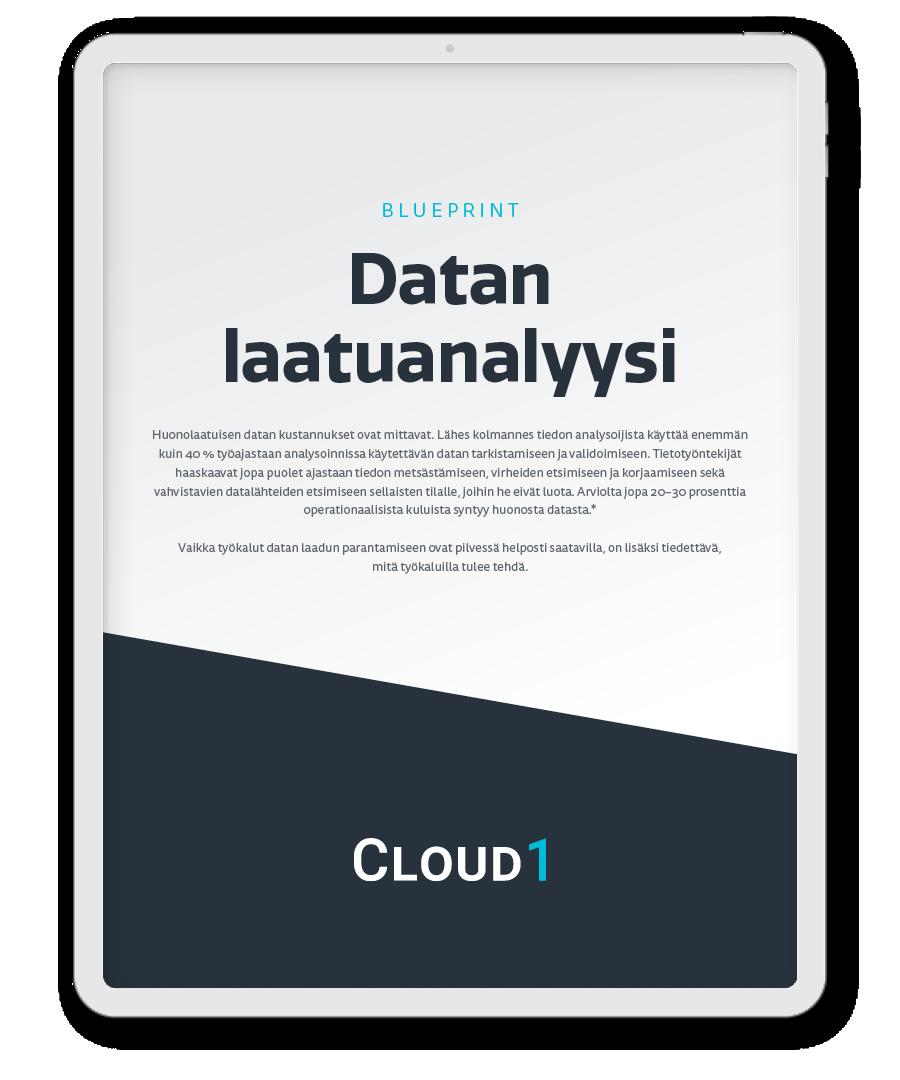 Cloud1 datan laatuanalyysi